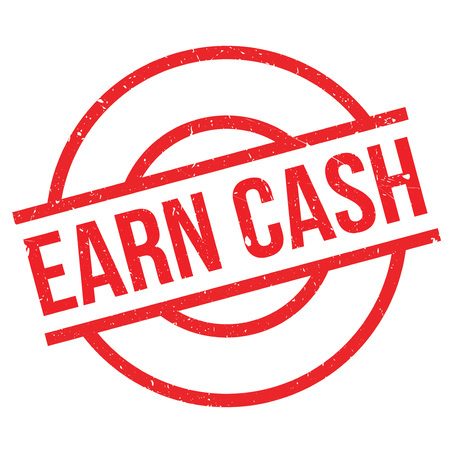 obtain: Earn Cash rubber stamp. Grunge design with dust scratches. Effects can be easily removed for a clean, crisp look. Color is easily changed.