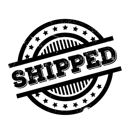 Shipped rubber stamp. Grunge design with dust scratches. Effects can be easily removed for a clean, crisp look. Color is easily changed. Illustration