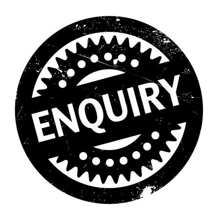 inquest: Enquiry rubber stamp. Grunge design with dust scratches. Effects can be easily removed for a clean, crisp look. Color is easily changed. Illustration