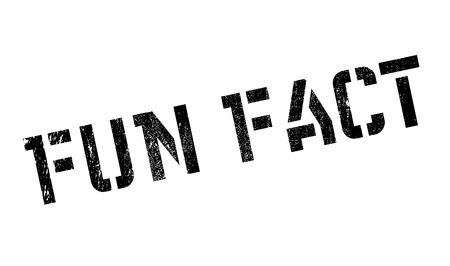 Fun Fact rubber stamp. Grunge design with dust scratches. Effects can be easily removed for a clean, crisp look. Color is easily changed.