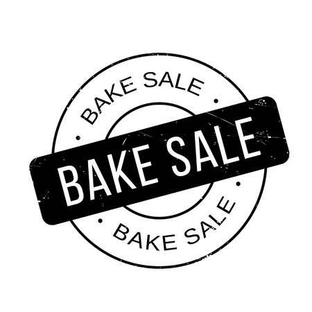 Bake Sale rubber stamp. Grunge design with dust scratches. Effects can be easily removed for a clean, crisp look. Color is easily changed.