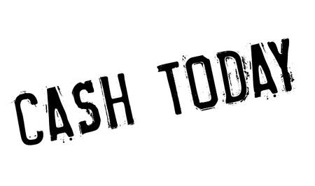 remuneración: Cash Today rubber stamp. Grunge design with dust scratches. Effects can be easily removed for a clean, crisp look. Color is easily changed. Vectores
