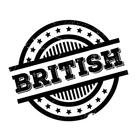 British rubber stamp. Grunge design with dust scratches. Effects can be easily removed for a clean, crisp look. Color is easily changed. Illustration