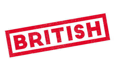 english culture: British rubber stamp. Grunge design with dust scratches. Effects can be easily removed for a clean, crisp look. Color is easily changed. Illustration