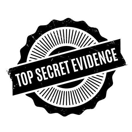 Top Secret Evidence rubber stamp. Grunge design with dust scratches. Effects can be easily removed for a clean, crisp look. Color is easily changed.