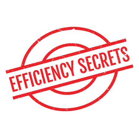 classified: Efficiency Secrets rubber stamp. Grunge design with dust scratches. Effects can be easily removed for a clean, crisp look. Color is easily changed.