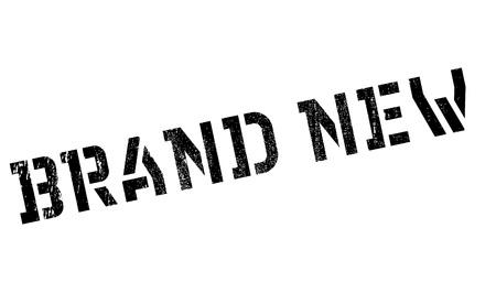 Marque stamp Nouveau en caoutchouc. conception grunge avec des rayures de poussière. Les effets peuvent être facilement enlevés pour un aspect propre et croustillant. La couleur est facilement changée. Vecteurs