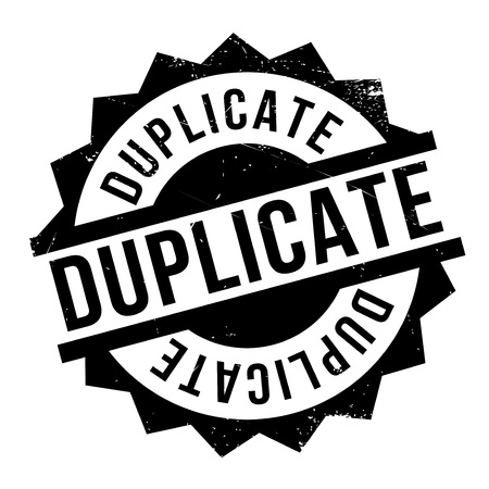 Duplicate rubber stamp. Grunge design with dust scratches. Effects can be easily removed for a clean, crisp look. Color is easily changed.
