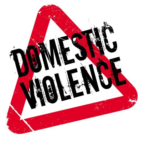 Domestic Violence rubber stamp. Grunge design with dust scratches. Effects can be easily removed for a clean, crisp look. Color is easily changed. Illustration