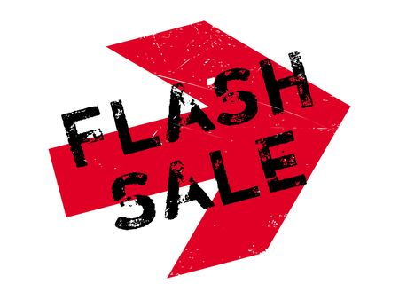 dumping: Flash sale stamp. Grunge design with dust scratches. Effects can be easily removed for a clean, crisp look. Color is easily changed. Illustration