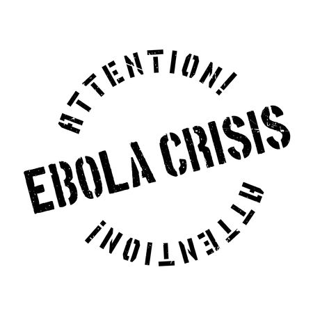 infectious disease: Ebola Crisis rubber stamp. Grunge design with dust scratches. Effects can be easily removed for a clean, crisp look. Color is easily changed. Illustration