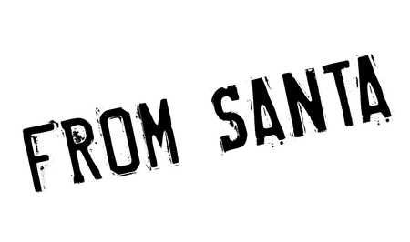 From Santa rubber stamp. Grunge design with dust scratches. Effects can be easily removed for a clean, crisp look. Color is easily changed.