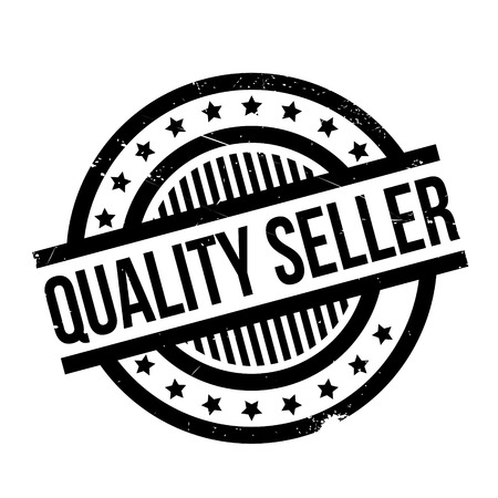 traders: Quality Seller rubber stamp. Grunge design with dust scratches. Effects can be easily removed for a clean, crisp look. Color is easily changed. Illustration
