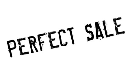 Perfect Sale rubber stamp. Grunge design with dust scratches. Effects can be easily removed for a clean, crisp look. Color is easily changed. Illustration