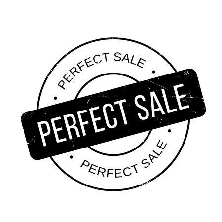 Perfect Sale rubber stamp. Grunge design with dust scratches. Effects can be easily removed for a clean, crisp look. Color is easily changed. Ilustração
