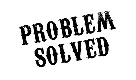 predicament: Problem Solved rubber stamp. Grunge design with dust scratches. Effects can be easily removed for a clean, crisp look. Color is easily changed.