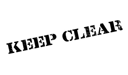 stipulation: Keep Clear rubber stamp. Grunge design with dust scratches. Effects can be easily removed for a clean, crisp look. Color is easily changed.