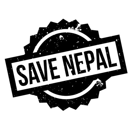 rana: Save Nepal rubber stamp. Grunge design with dust scratches. Effects can be easily removed for a clean, crisp look. Color is easily changed.