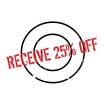 seize: Receive 25 Off rubber stamp. Grunge design with dust scratches. Effects can be easily removed for a clean, crisp look. Color is easily changed.