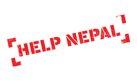 rana: Help Nepal rubber stamp. Grunge design with dust scratches. Effects can be easily removed for a clean, crisp look. Color is easily changed.