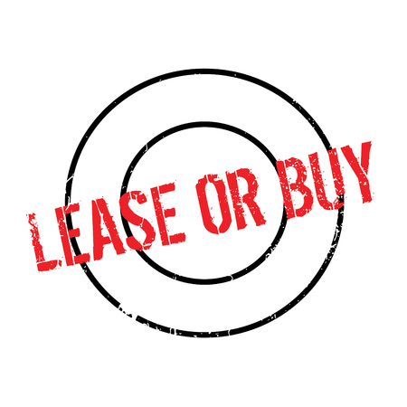 Lease Or Buy rubber stamp. Grunge design with dust scratches. Effects can be easily removed for a clean, crisp look. Color is easily changed. Stock Photo