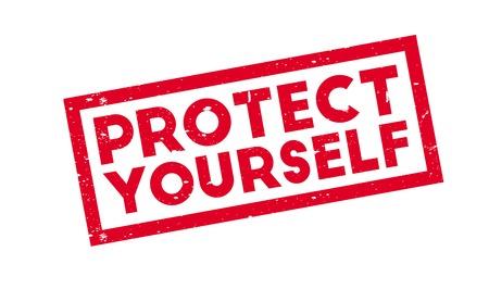Protégez-vous en tampon en caoutchouc. Design grunge avec rayures de poussière. Les effets peuvent être facilement éliminés pour un look net et net. La couleur est facilement modifiée. Vecteurs