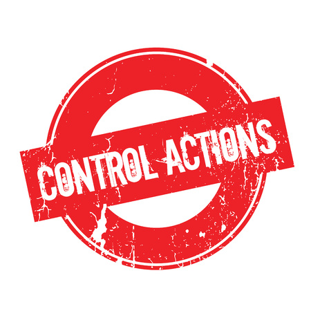 Control Actions rubber stamp. Grunge design with dust scratches. Effects can be easily removed for a clean, crisp look. Color is easily changed.