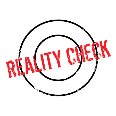 Reality Check rubber stamp. Grunge design with dust scratches. Effects can be easily removed for a clean, crisp look. Color is easily changed. Illustration