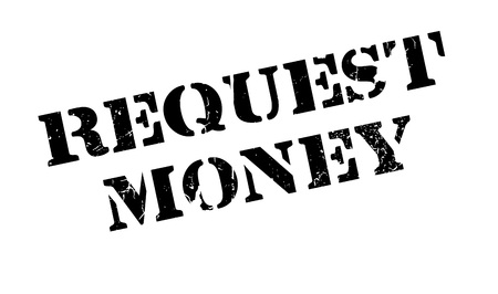 recourse: Request Money rubber stamp. Grunge design with dust scratches. Effects can be easily removed for a clean, crisp look. Color is easily changed. Stock Photo