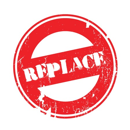 Replace rubber stamp. Grunge design with dust scratches. Effects can be easily removed for a clean, crisp look. Color is easily changed.