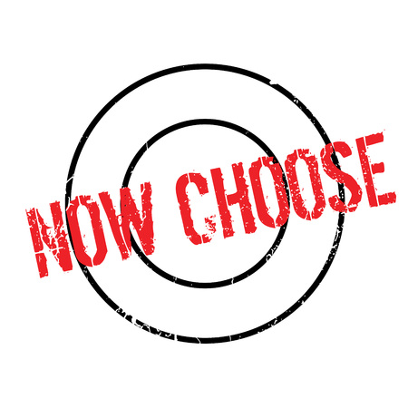 promptly: Now Choose rubber stamp. Grunge design with dust scratches. Effects can be easily removed for a clean, crisp look. Color is easily changed. Illustration
