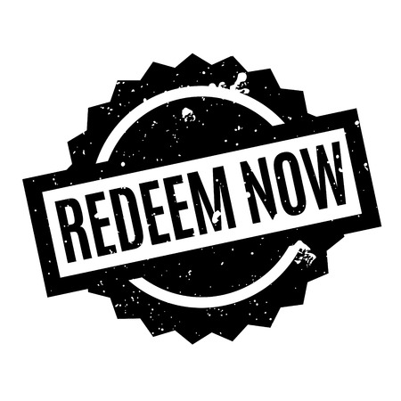 discharge time: Redeem Now rubber stamp. Grunge design with dust scratches. Effects can be easily removed for a clean, crisp look. Color is easily changed.