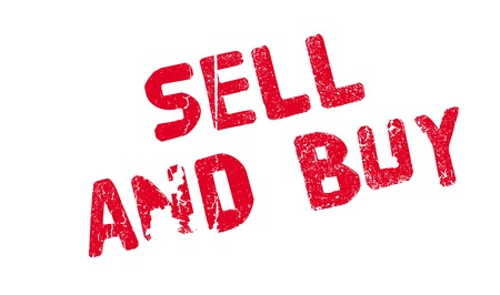 investor: Sell And Buy rubber stamp. Grunge design with dust scratches. Effects can be easily removed for a clean, crisp look. Color is easily changed. Illustration