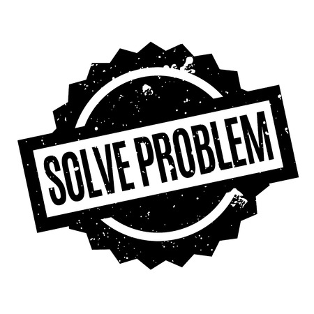 clarify: Solve Problem rubber stamp. Grunge design with dust scratches. Effects can be easily removed for a clean, crisp look. Color is easily changed.