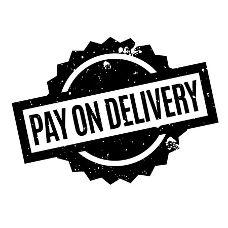 immediately: Pay On Delivery rubber stamp. Grunge design with dust scratches. Effects can be easily removed for a clean, crisp look. Color is easily changed. Illustration