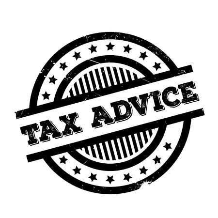Tax Advice rubber stamp. Grunge design with dust scratches. Effects can be easily removed for a clean, crisp look. Color is easily changed. Stock Photo
