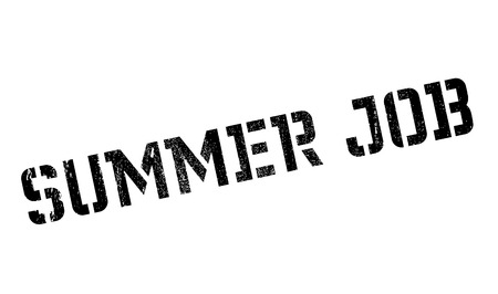 Summer Job rubber stamp. Grunge design with dust scratches. Effects can be easily removed for a clean, crisp look. Color is easily changed.