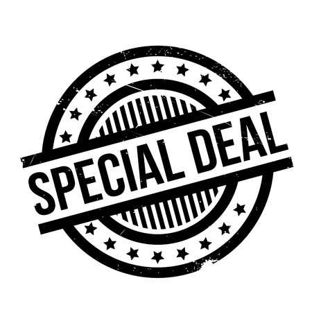 Special Deal rubber stamp. Grunge design with dust scratches. Effects can be easily removed for a clean, crisp look. Color is easily changed.