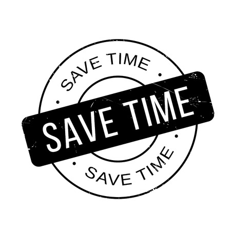 liberate: Save Time rubber stamp. Grunge design with dust scratches. Effects can be easily removed for a clean, crisp look. Color is easily changed. Illustration