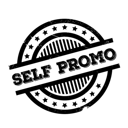 Self Promo rubber stamp. Grunge design with dust scratches. Effects can be easily removed for a clean, crisp look. Color is easily changed.