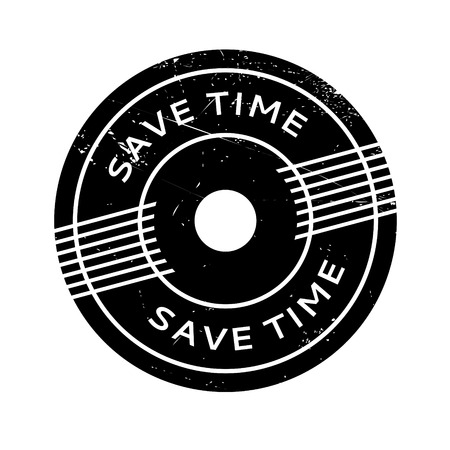 off the hook: Save Time rubber stamp. Grunge design with dust scratches. Effects can be easily removed for a clean, crisp look. Color is easily changed. Illustration