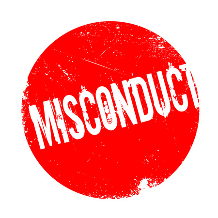 racism: Misconduct rubber stamp. Grunge design with dust scratches. Effects can be easily removed for a clean, crisp look. Color is easily changed.