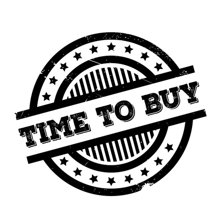 buying time: Time To Buy rubber stamp. Grunge design with dust scratches. Effects can be easily removed for a clean, crisp look. Color is easily changed. Illustration