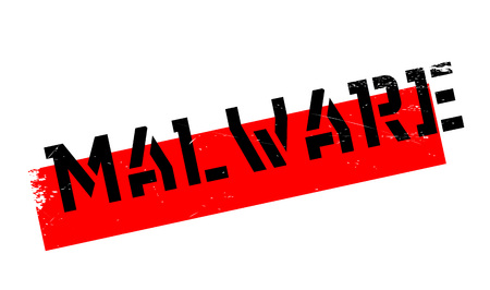 Malware rubber stamp. Grunge design with dust scratches. Effects can be easily removed for a clean, crisp look. Color is easily changed. Illustration