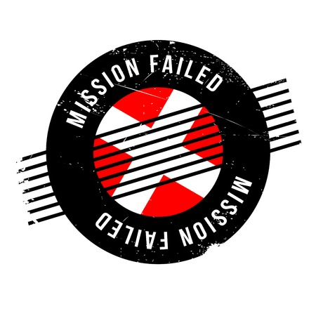 Mission Failed rubber stamp. Grunge design with dust scratches. Effects can be easily removed for a clean, crisp look. Color is easily changed.