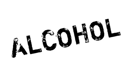 Alcohol rubber stamp. Grunge design with dust scratches. Effects can be easily removed for a clean, crisp look. Color is easily changed. Stock Photo