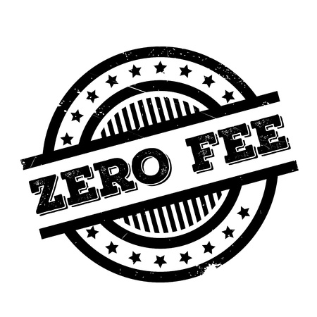 emolument: Zero Fee rubber stamp. Grunge design with dust scratches. Effects can be easily removed for a clean, crisp look. Color is easily changed.