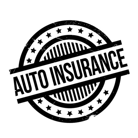 provision: Auto Insurance rubber stamp. Grunge design with dust scratches. Effects can be easily removed for a clean, crisp look. Color is easily changed. Illustration