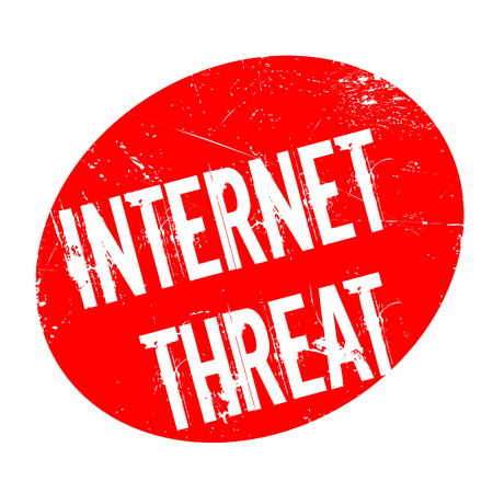 Internet Threat rubber stamp. Grunge design with dust scratches. Effects can be easily removed for a clean, crisp look. Color is easily changed. Illustration