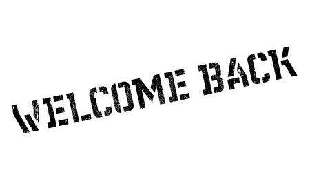 honored: Welcome Back rubber stamp. Grunge design with dust scratches. Effects can be easily removed for a clean, crisp look. Color is easily changed. Stock Photo